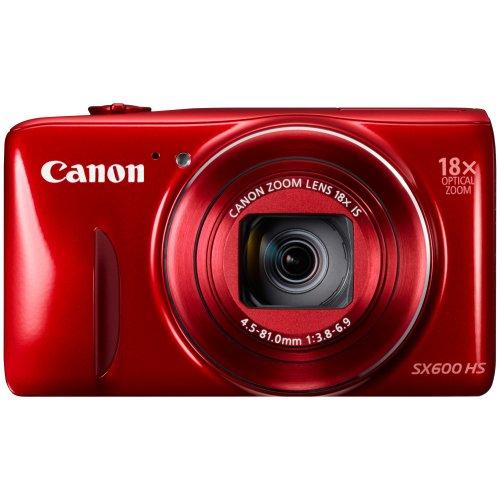 Canon PowerShot SX600 HS Digital Camera HD 1080p 16MP 18xOptical Zoom, Wi-Fi NFC GPS Red - John Lewis - £99.99