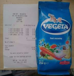 250g vegeta food seasoning 99p @ Sam 99p Stores