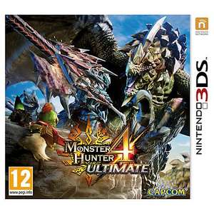 Monster Hunter 4 Ultimate 3DS £19.95 (Click & Collect from John Lewis or Waitrose) or £22.95 Delivered