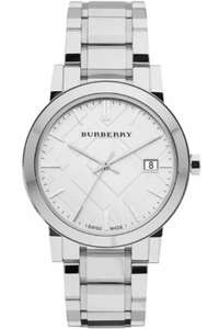 BURBERRY THE CITY SILVER TONE STEEL BRACELET MENS WATCH £189.90 @ The watch Hut