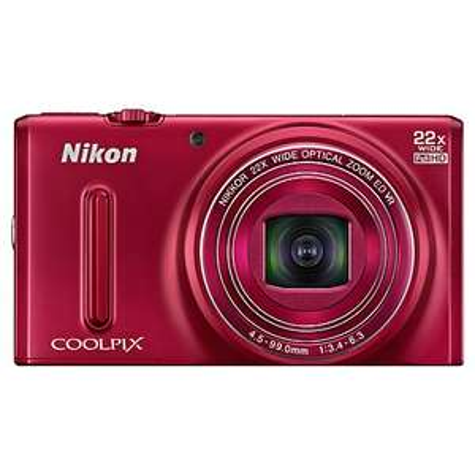 Nikon Coolpix S9600 Red, 16MP, 22x Optical Zoom, 1080p HD Video, WiFi, £104.97 @ John Lewis