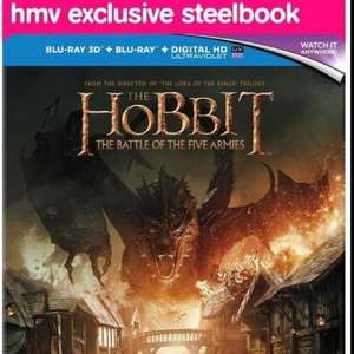 The Hobbit: Battle of the five armies Steelbook 3D [€21.58 - £15.91] including delivery @ HMV.ie