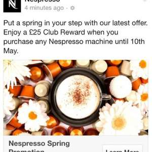 Nespresso £25 voucher free with ANY machine