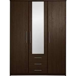 Normandy 3 Door 3 Drawer Large Mirrored Wardrobe - Wenge Wood/Oak or White only £151.19 with code at Argos - total £160 inc delivery save £388.79 plus free £10 voucher.