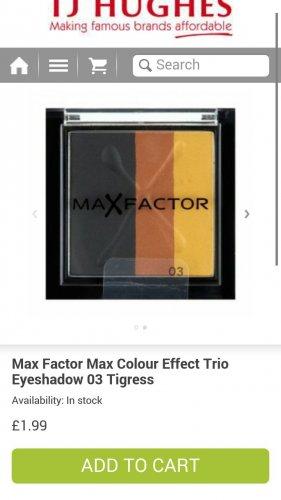 Max Factor Max Colour Effect Trio eyeshadow £1.99 plus £2.49 p&p @ TJ Hughes