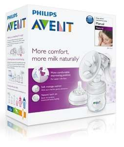 Philips Avent Natural breast pump for £18 (£6 with parenting club deal) @ Boots