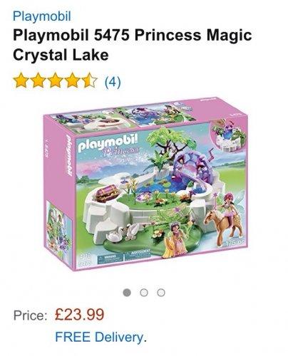 Playmobil princess 5475 magic crystal lake 40% off £23.99 @ Amazon