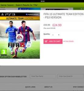 Fifa 15 only £24.99 for ps3 @ gamer heaven