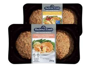 Harbour Fresh (2) Melt in the Middle Fishcakes Salmon and Hollandaise Sauce or MSC Smoked Haddock and Davidstow Cheddar (290g) ONLY  £1.65 @ Lidl