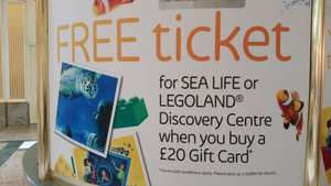 FREE entry to either Trafford Centre's LEGOLAND or Sea Life centre when purchase a Trafford Centre gift card for £20 or more
