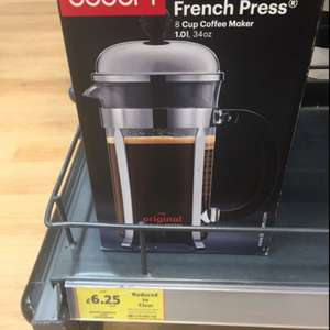 Bodum chambord 8 cup coffee maker £6.25 @ Tesco