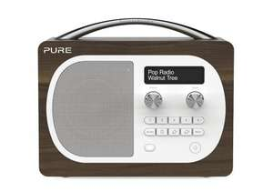 Pure Evoke D4 Portable DAB/FM Radio - Walnut @ Amazon £64.99,Deal of the day, 50% off.