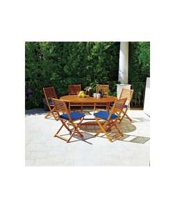 6 seater wooden patio set £127.49 @ Argos with code