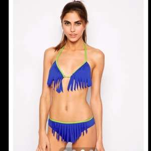 £3.50 + £3 p&p Liquorish Electric Blue Tassel Bikini Bottoms @ Asos