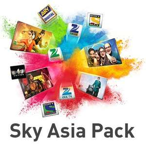 Sky Asia Pack Deal - £5 a month for 12 months or £1 a month for 3 months