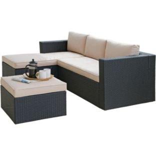 Hand-Woven 3 Seater Rattan Effect Mini Corner Sofa. £263.94 Argos. 15% discount code