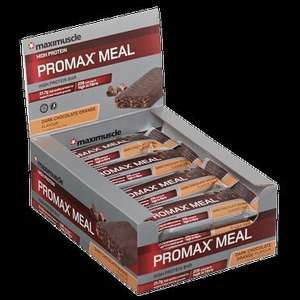 MAXIMUSCLE PROMAX MEAL CHOCOLATE ORANGE BAR 8 Boxes for £62 @ GNC