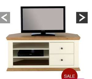 £69.00 Easton Corner TV Unit - Fits Up To 50 Inch TV @ Very