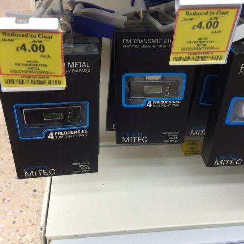 Fm transmitter metal £4.00 @ Tesco instore