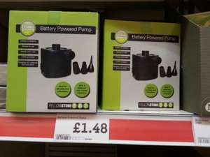 Battery pump for airbeds, etc. £1.48 @ Morrisons