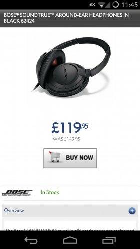 Bose Soundtrue Around Ear (Black) £120 @ hispek
