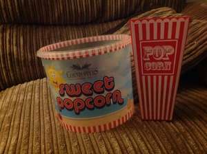 Plastic cinema style popcorn buckets 69p and massive buckets of popcorn 99p @ Home Bargains