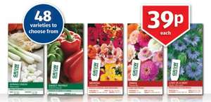Flower and Vegetable seeds, only 39p at Aldi - 48 varieties