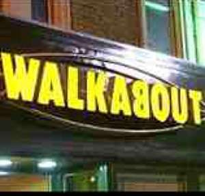 Free burger from Walkabout when spending £1.50 or more - Monday 13th to Friday 17th April between 12-5pm