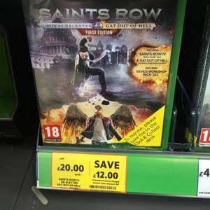 Saints Row IV Re-elected & Gat Out Of Hell Xbox One & PS4 £20 Tesco