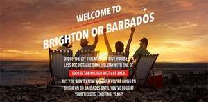 Brighton or Barbados for May Bank Holiday Weekend! - £49 @ Carling