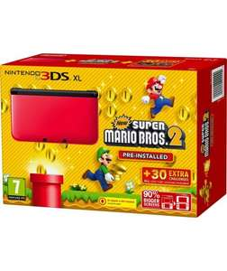 Nintendo 3DS XL Red/Black and Super Mario Brothers  2 Game + Free Pokemon White 2 ds game bundle £139.99 @ Argos
