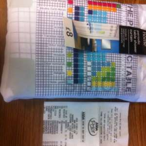 Periodic table shower curtain £2 Asda Burnley
