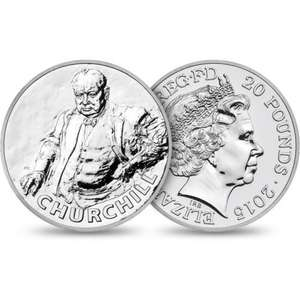 £20 Sir Winston Churchill 2015 UK Fine Silver Coin FREE DELIVERY (CODE: E1605E) @ The Royal Mint