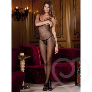 Rene Rofe Criss-Cross Strap Crotchless Fishnet Bodystocking  33%OFF- £10 DELIVERED @ LOVEHONEY