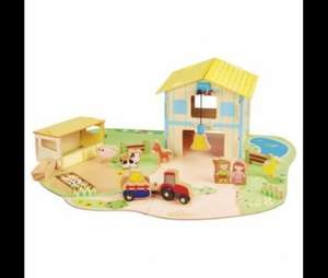 Tesco (instore)Carousel Wooden Farm Play Set Age 3+ £5
