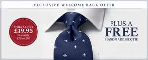 Charles Tyrwhitt - any shirt £19.99 plus free silk tie (£4.95 delivery)