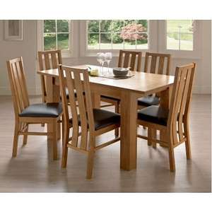 Oakleigh Dining Table with 6 Chairs - Oak @ Homebase £186.20