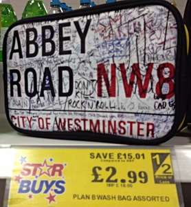 Abbey Road Wash Bag by Plan B @ Home Bargains £2.99