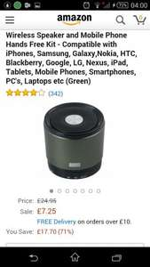August MS425 - Portable Bluetooth Speaker with Microphone £7.25 + £3.99 delivery Sold by Daffodil UK and Fulfilled by Amazon