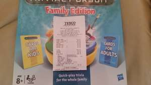 Trivial Pursuit Family Edition Scanning at £6 Tesco Pitsea - £25 online