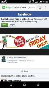 Centra Furl Boucher Crescent 5p off fuel this Friday 17th £1.09