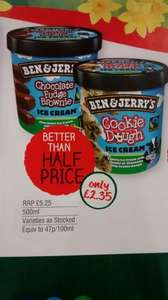 Ben & Jerry's Ice Cream £2.35 CostCutter