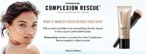 Free deluxe sample of Bare Minerals new Complexion Rescue Tinted Hydrating Gel Cream