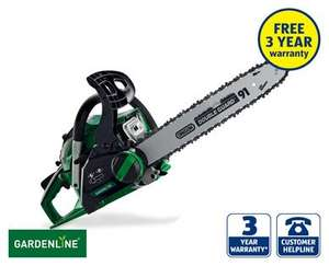 Petrol chainsaw £80, 3 year warranty!!!! Aldi.