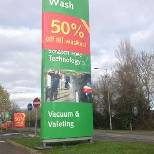 Car wash 50% discount across all washes from £1.50 @ imo car wash