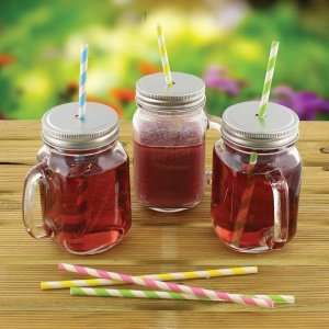 Glass drinking jar 69p @ home bargains in store
