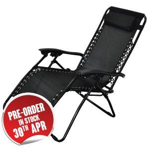Zero Gravity Reclining Sun Lounger £21.99 - Instore/Online HomeBargains