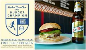 Free Cheeseburger and a beer for your support crew for London Marathon Runners @ Gourmet Burger Kitchen