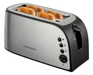 Cookworks 4 Slice Toaster - Stainless Steel - £16.29 @ Argos