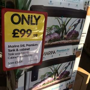 Marina 54L fish tank and stand £99.99 in jollyes Flint